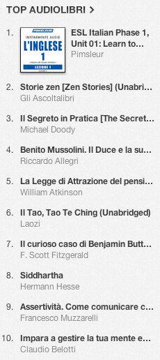 La classifica degli audiolibri più venduti su iTunes Store 30 aprile - 6 maggio 2013