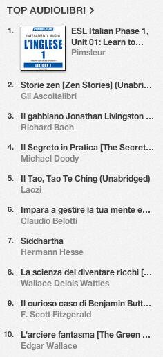 La classifica degli audiolibri più venduti su iTunes Store 10-17 giugno 2013