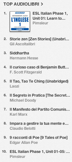 La classifica degli audiolibri più venduti su iTunes Store 17-24 giugno 2013