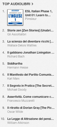 La classifica degli audiolibri più venduti su iTunes Store 4-11 novembre 2013