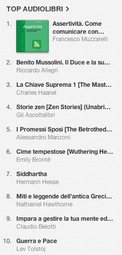 La classifica degli audiolibri più venduti su iTunes Store 18-25 novembre 2013