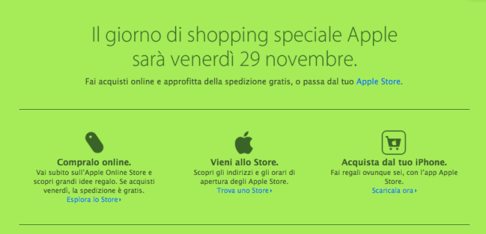 Black Friday: giornata di offerte speciali per Amazon e Apple (anche in Italia!)