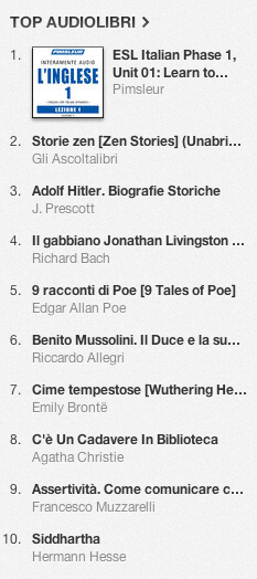La classifica degli audiolibri più venduti su iTunes Store dal 7 al 14 gennaio 2014