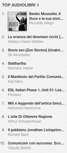 La classifica degli audiolibri più venduti su iTunes Store dal 20 al 27 gennaio 2014
