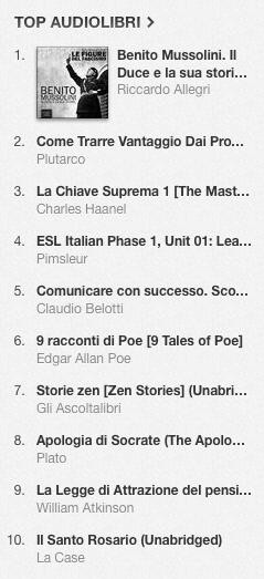 La classifica degli audiolibri più venduti su iTunes Store dal 24 febbraio al 3 marzo 2014