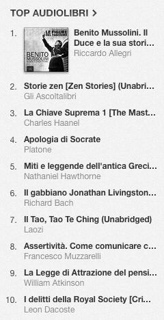 La classifica degli audiolibri più venduti su iTunes Store dal 14 al 21 aprile 2014 01