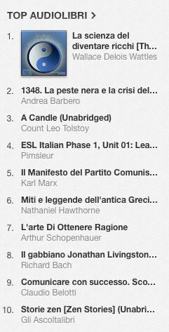 La classifica degli audiolibri più venduti su iTunes Store dal 16 al 23 giugno 2014