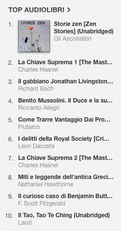 La classifica degli audiolibri più venduti su iTunes Store dal 26 maggio al 2 giugno 2014