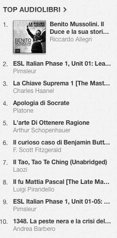 La classifica degli audiolibri più venduti su iTunes Store dal 9 al 16 giugno 2014