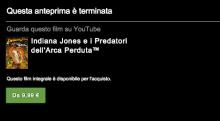Youtube, da oggi si possono acquistare e vedere film in streaming