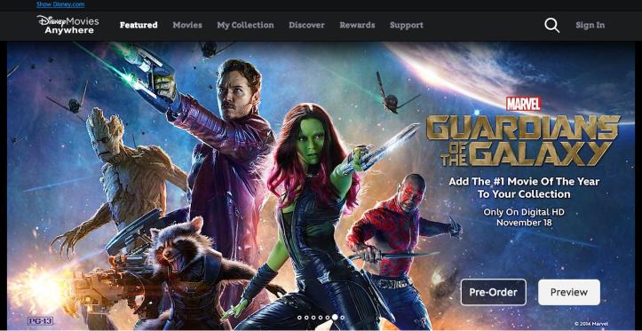 Disney Movies Aniwehere riesce a mettere d'accordo Google e Apple - Guardiani della Galassia