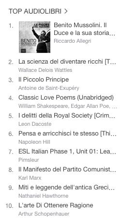 La classifica degli audiolibri più venduti della settimana su iTunes  06
