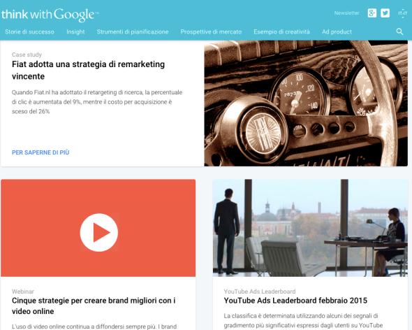 Think with Google ora disponibile anche in italiano