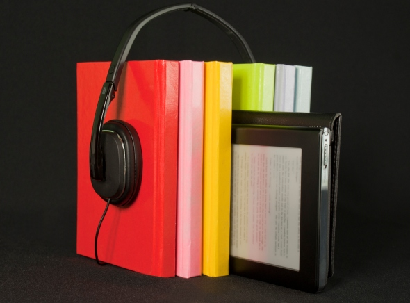 Audio books concept