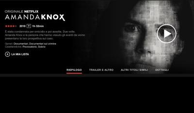 Amanda Knox, il documentario di Netflix