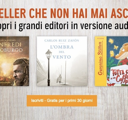 Audiobook, accordo tra Audible e Mondadori