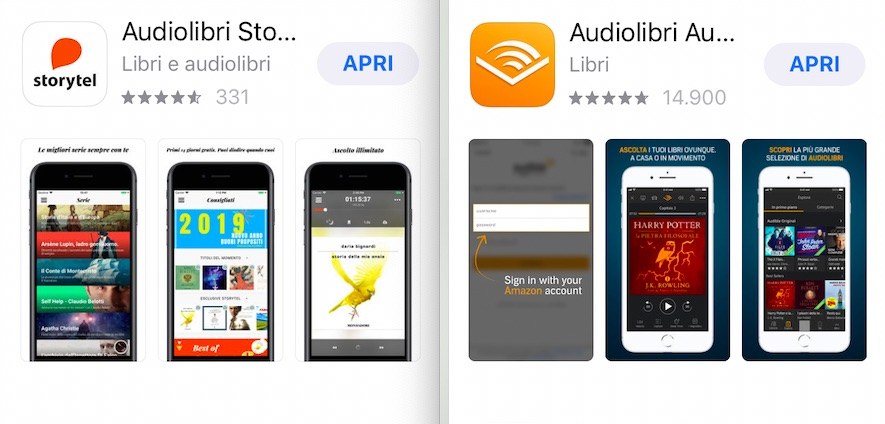 Storytel e Audible, le due principali app di streaming per audiolibri