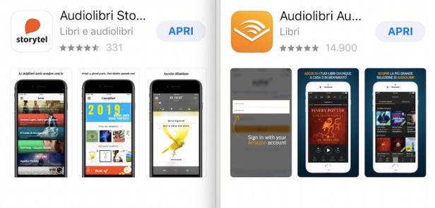 Storytel e Audible, le due principali app di streaming per audiolibri